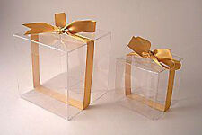 Wedding Cake Boxes   eBay 1  12cm Bomboniere favor clear PVC wedding gift cup cake product box BUY  QTY RQD