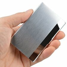 Business Card Holders for sale   eBay Pocket Stainless Steel   Metal Business Card Holder Case ID Credit Wallet  Silver