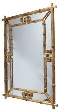 Rectangle Hollywood Regency Gold Home D    cor Mirrors for sale   eBay Antique Gold Iron Fretwork Bamboo Wall Mirror Asian Elegant Hollywood  Regency