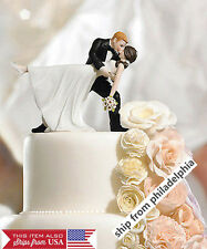 Wedding Cake Toppers for sale   eBay Romantic Bride and Groom Wedding Couple Figurine Dancing Dip Hug Cake Topper