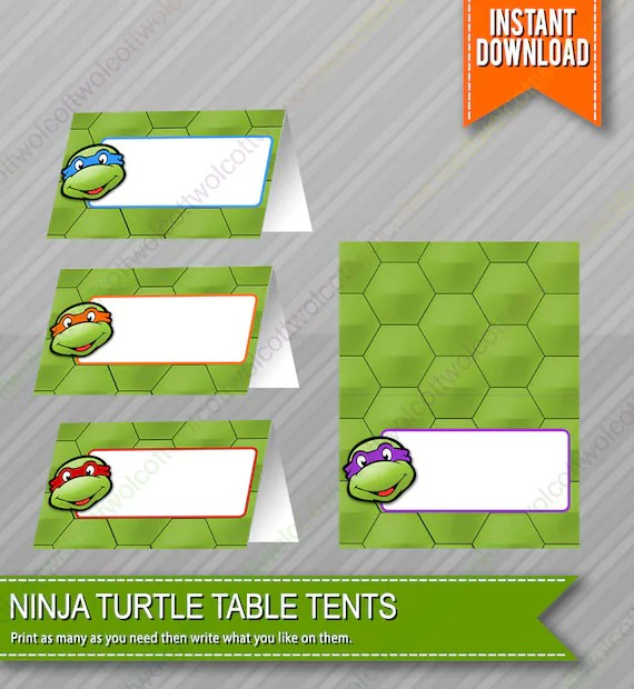Ninja Turtle Printable Blank Cards