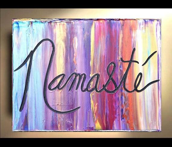 Namaste Wall Art Original Paintings Decor art Painting on