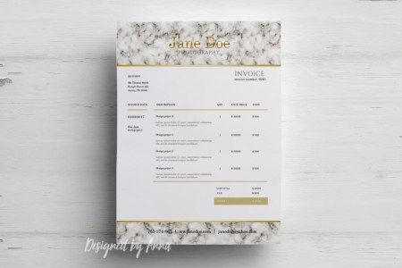 Photography invoice template elegant invoice design wedding   Etsy image 0