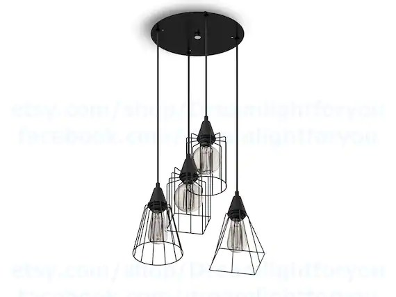 industrial cluster pendant lighting # 49
