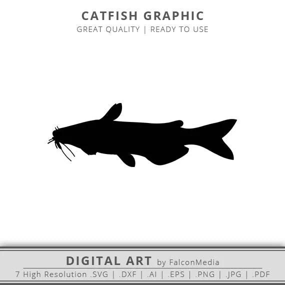 Catfish Svg Freshwater Fish Catfish Fishing Clip Art Etsy
