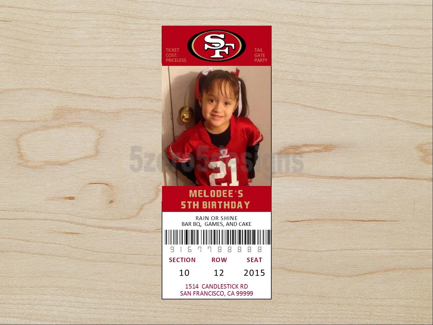 Free Printable 49ers Invitations