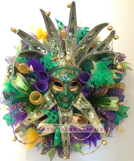 Door Hanger Mardi Gras Beads