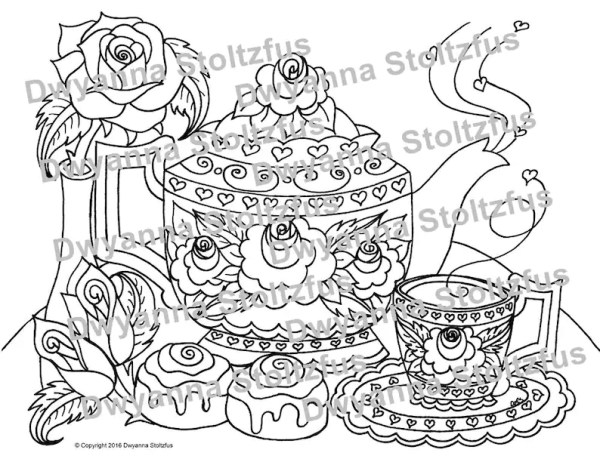 teapot coloring page # 44