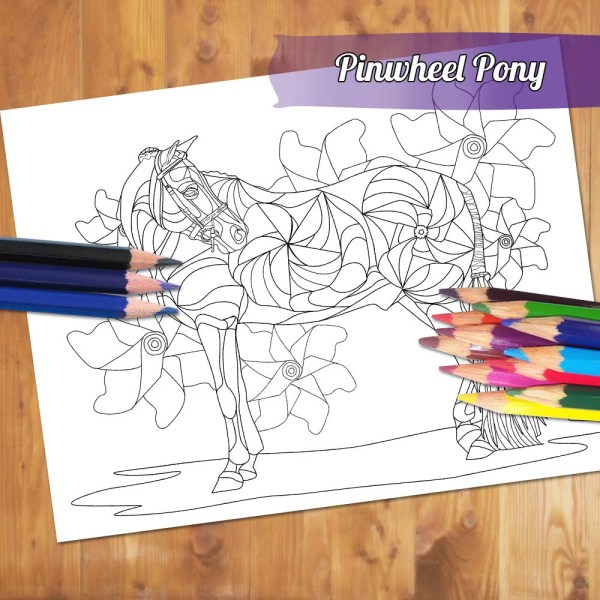 Equestrian Adult Coloring Page Show Jumping Horse Coloring   Etsy Equestrian Adult Coloring Page   Hunter Pony Coloring Book Printable Sheet