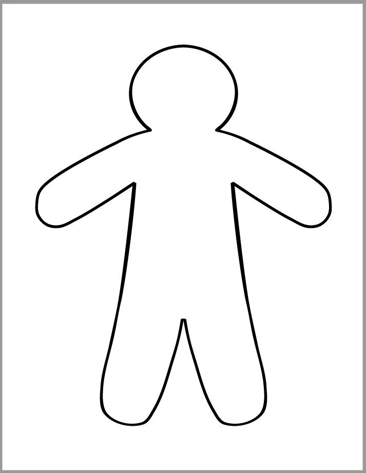 9 inch Gingerbread Man Template-Printable Gingerbread   Etsy