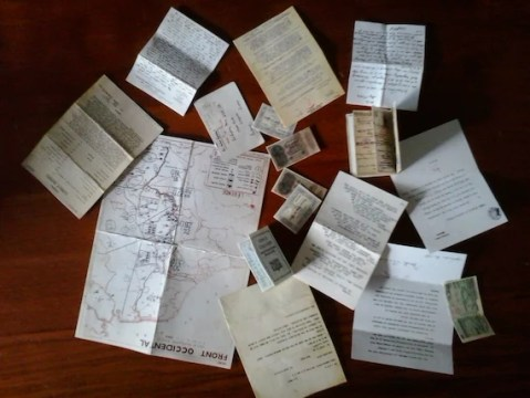 1 6 scale miniature WWII war military documents map letters