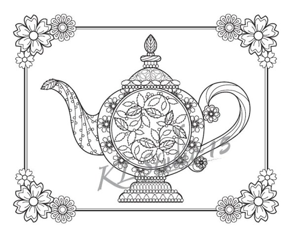 teapot coloring page # 18