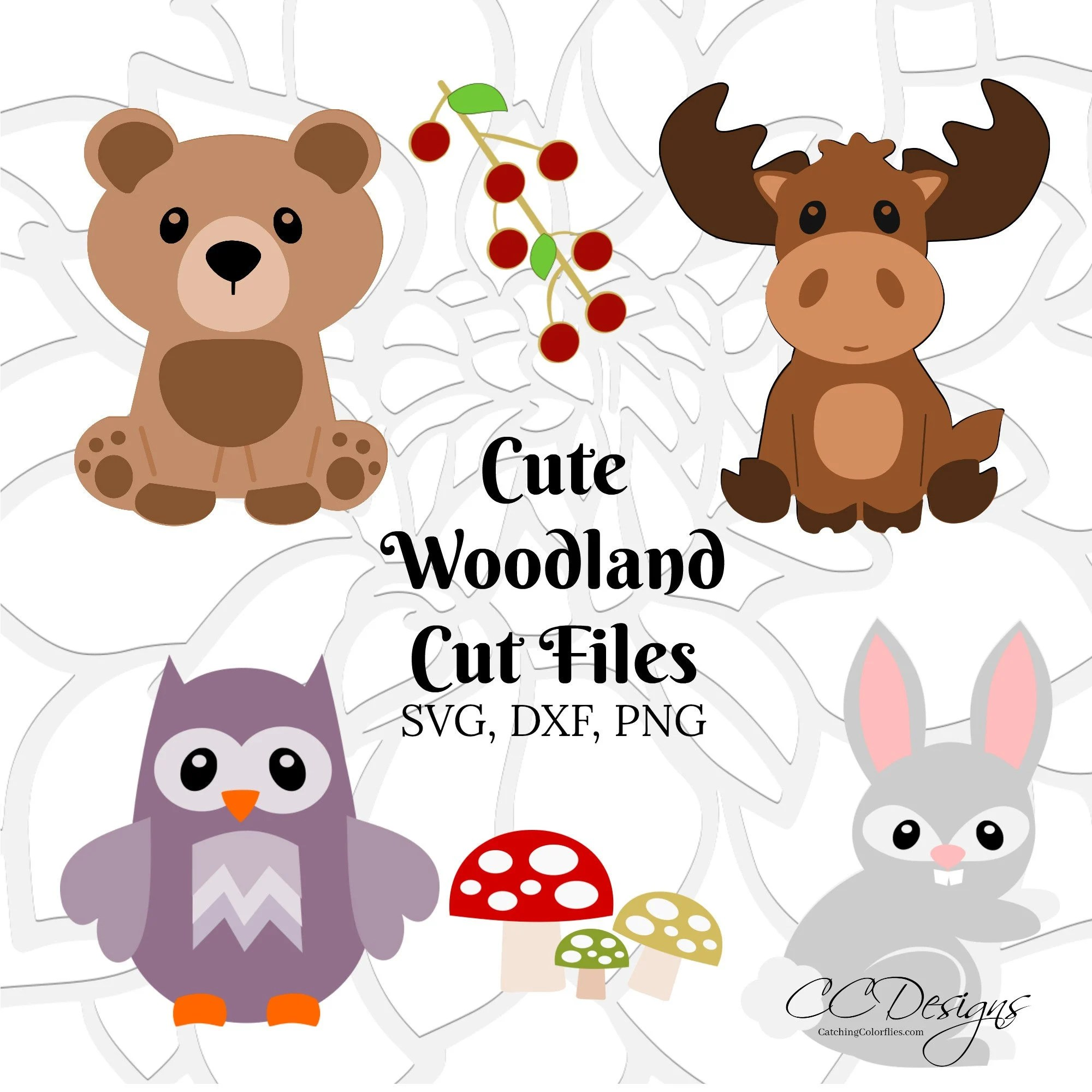 Baby Woodland Forest Animals SVG Cut Files Moose Cut Files ...
