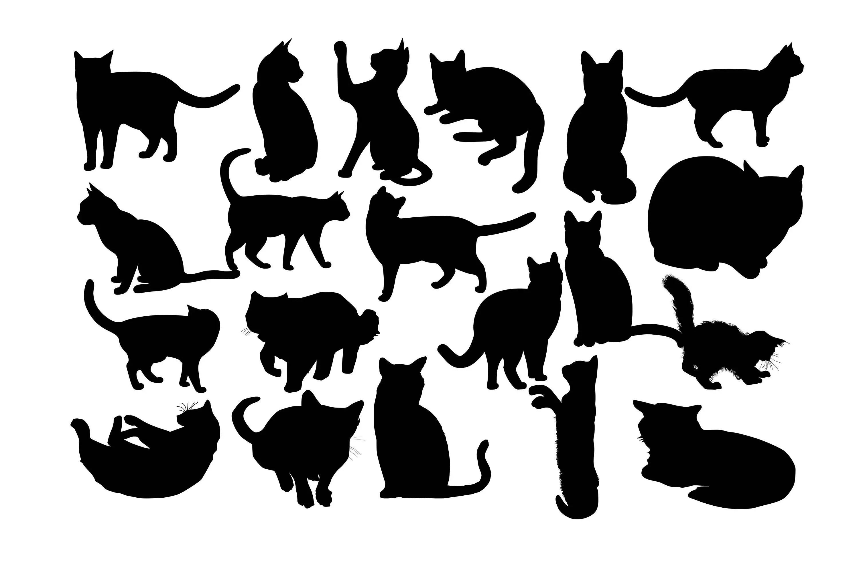 Katze Silhouette Katze Clipart Kitty Silhouette Haustier