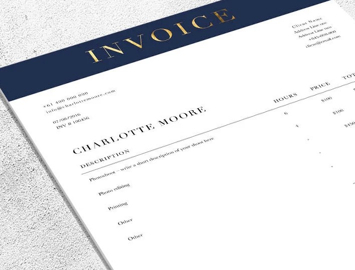 HD Decor Images » Printable Invoice Template MS Word receipt template   Etsy Printable Invoice Template   MS Word receipt template   Photoshop receipt  template