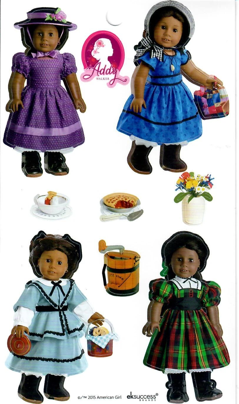 AMERICAN GIRL STICKERS / Addy Beforever Doll Sticker Sheet ...