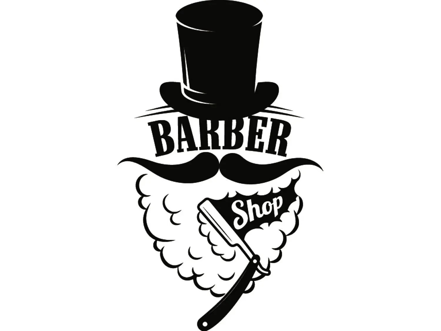 barber logo svg - HD 1499×1127