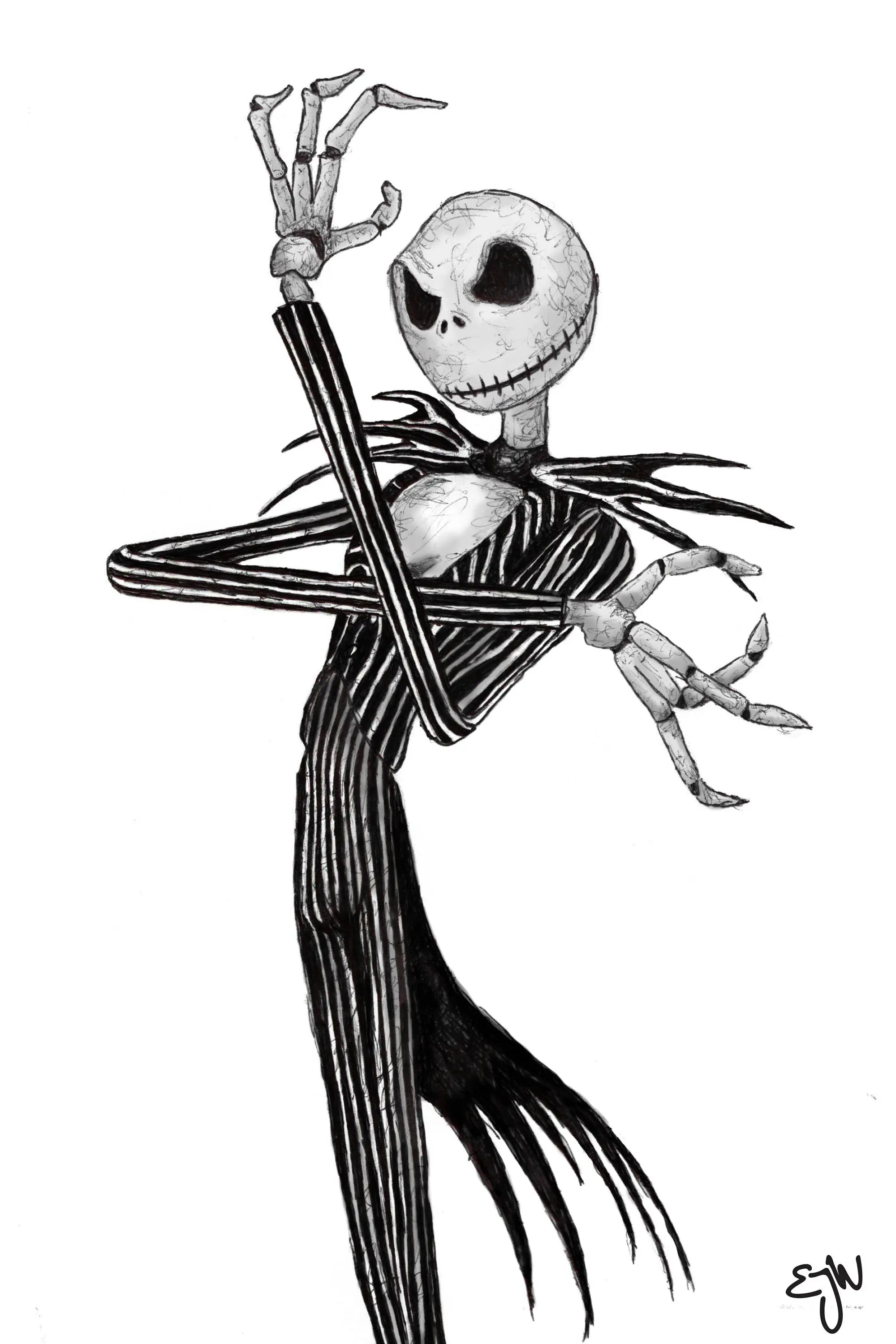 Jack Skellington Art Print | Etsy