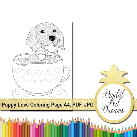puppy color pages # 54