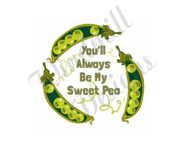 sweet pea embroidery # 29