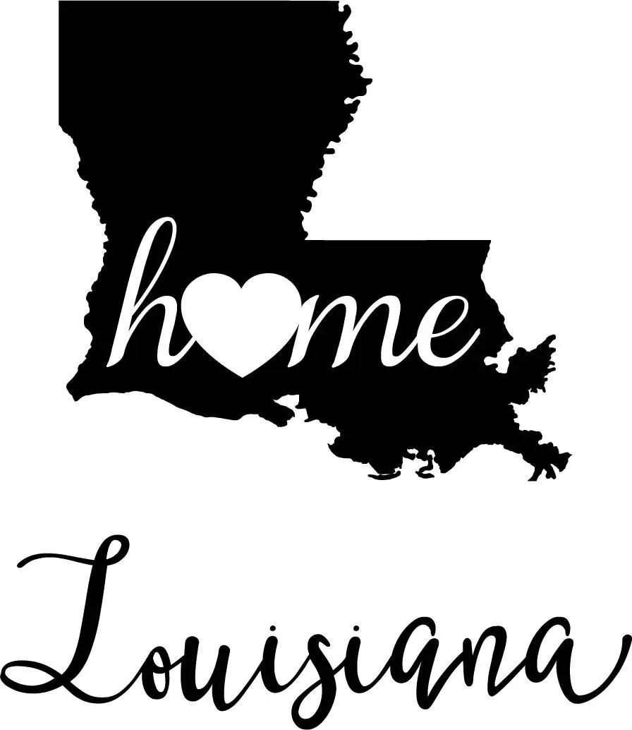 Louisiana State Map digital file: SVG PNG Jpg eps Vector ...