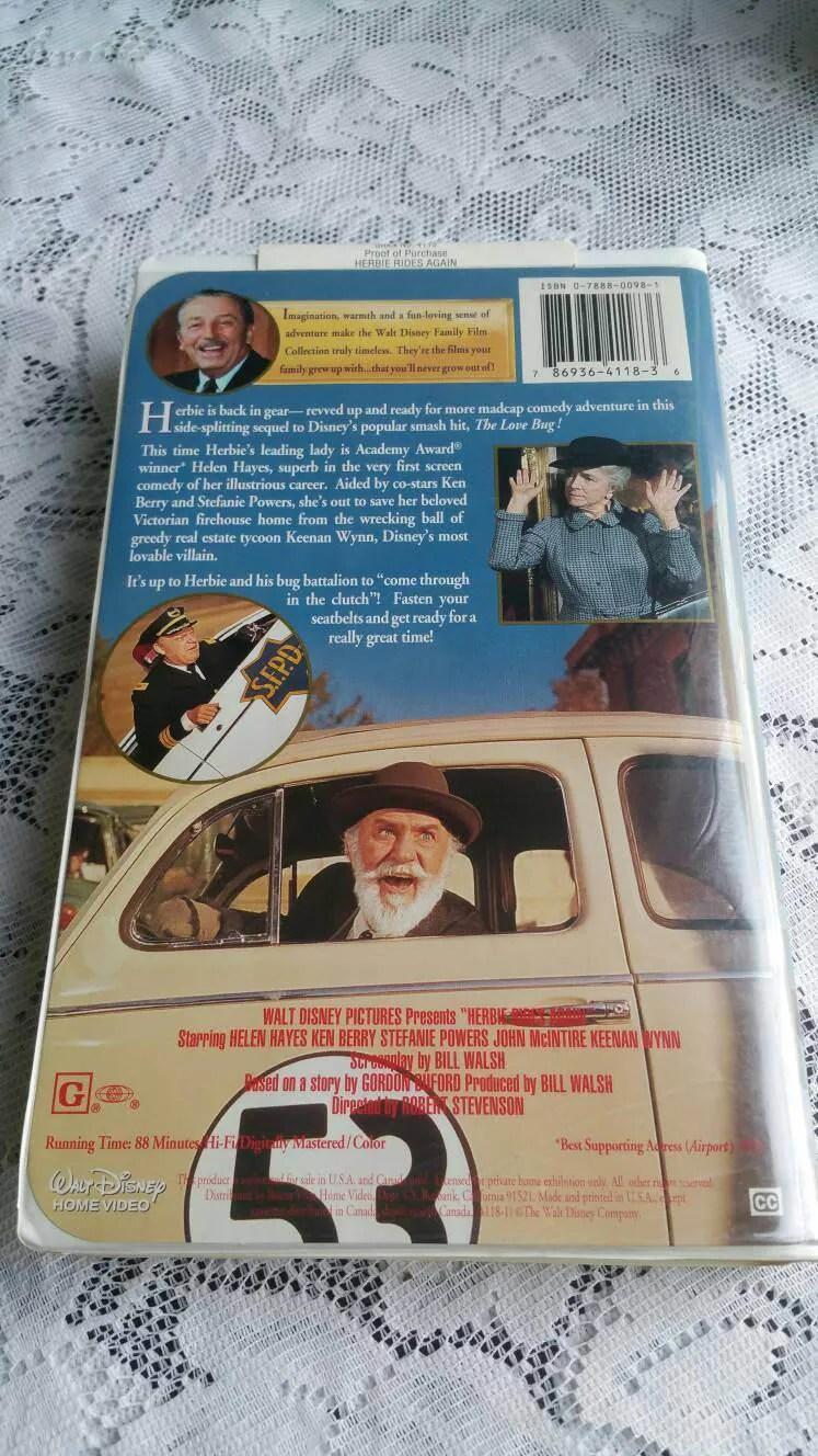 Free US Shipping / 1994 Vintage Walt Disney Herbie Rides ...