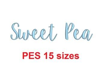 sweet pea font # 10