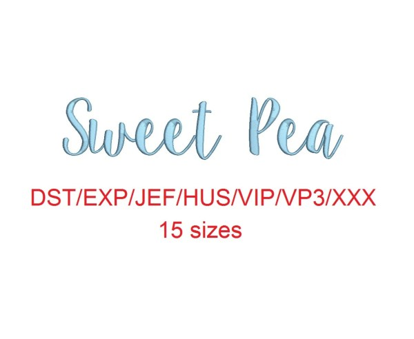 sweet pea embroidery # 62