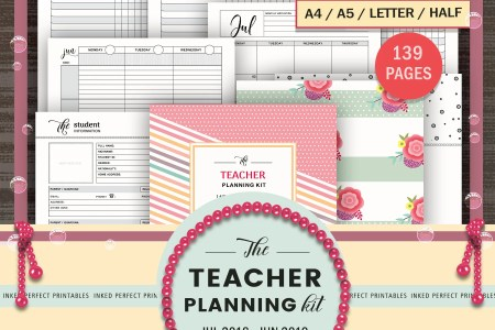 Teacher planner   Etsy TEACHER PLANNER 2018 2019   Academic Planner   Specialty Teacher   Lesson  Plan   Attendance Register   Classroom Planning   Rosters