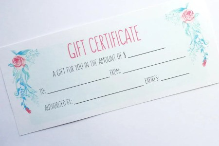 Printable Gift Certificate Instant Download Business   Etsy image 0