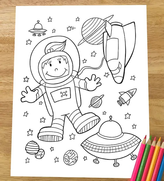 space coloring page # 38