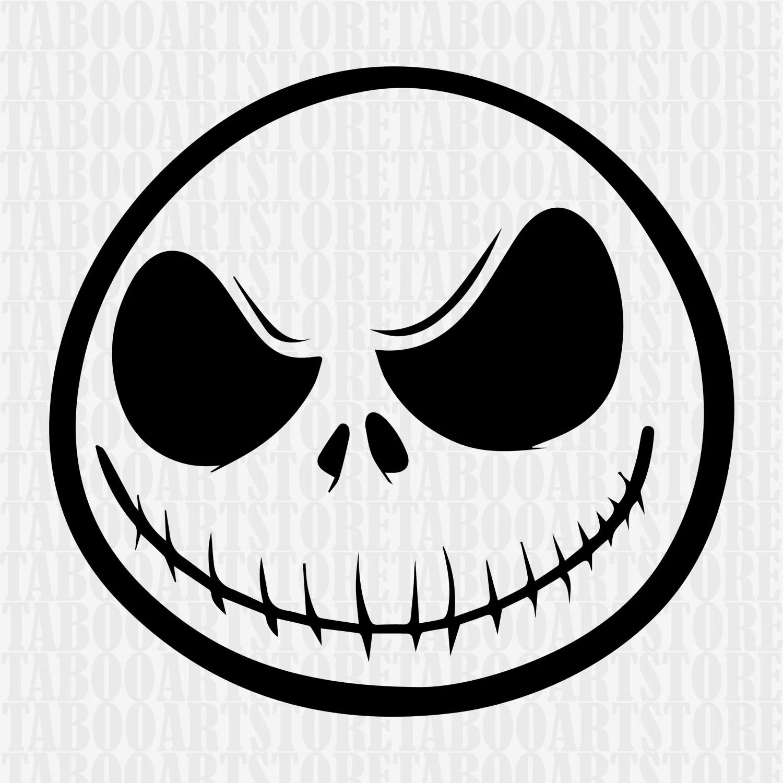 Jack skellington stenciljack skellington SVG Nightmare | Etsy
