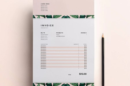 Business Invoice Template Excel Spreadsheet Custom   Etsy Invoice Template  Business Invoice Spreadsheet  Google Sheets   Excel  Invoice  Freelance Invoice Design  Business Template Download