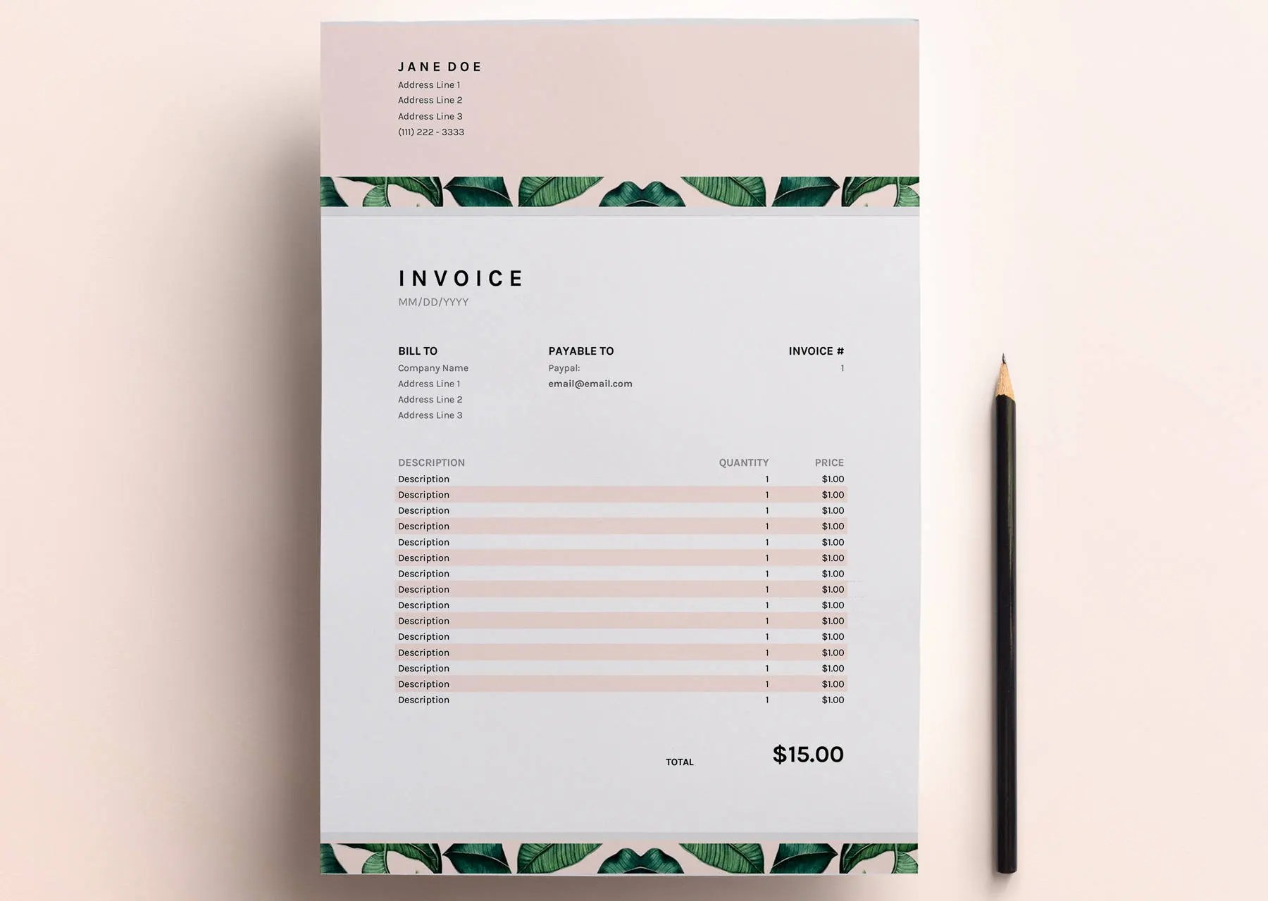 Invoice Template Business Invoice Spreadsheet Google Sheets   Etsy