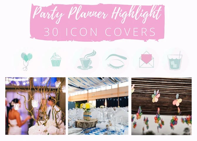 30 Instagram Story Highlight Icons Pink Icon Covers for | Etsy