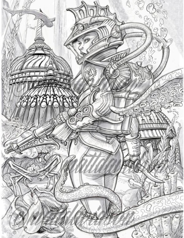 fantasy coloring pages for adults # 21