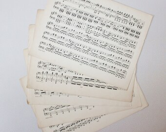 Old music paper Etsy