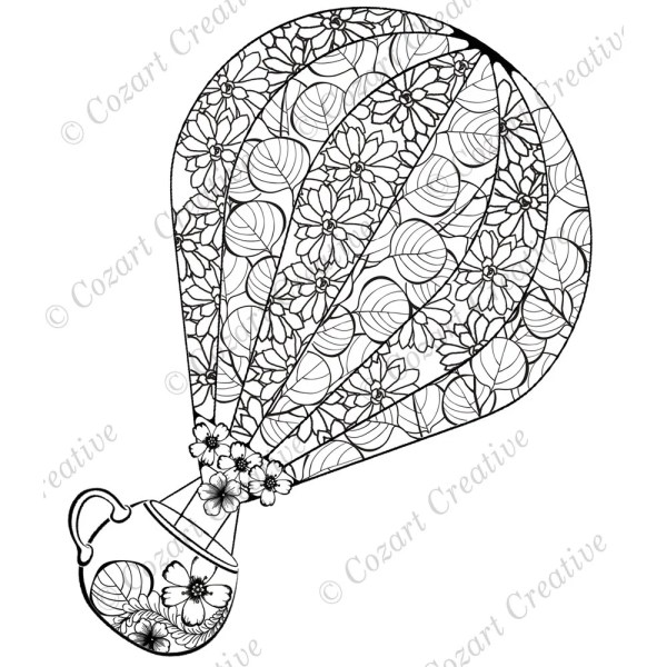 hot air balloon coloring pages # 78