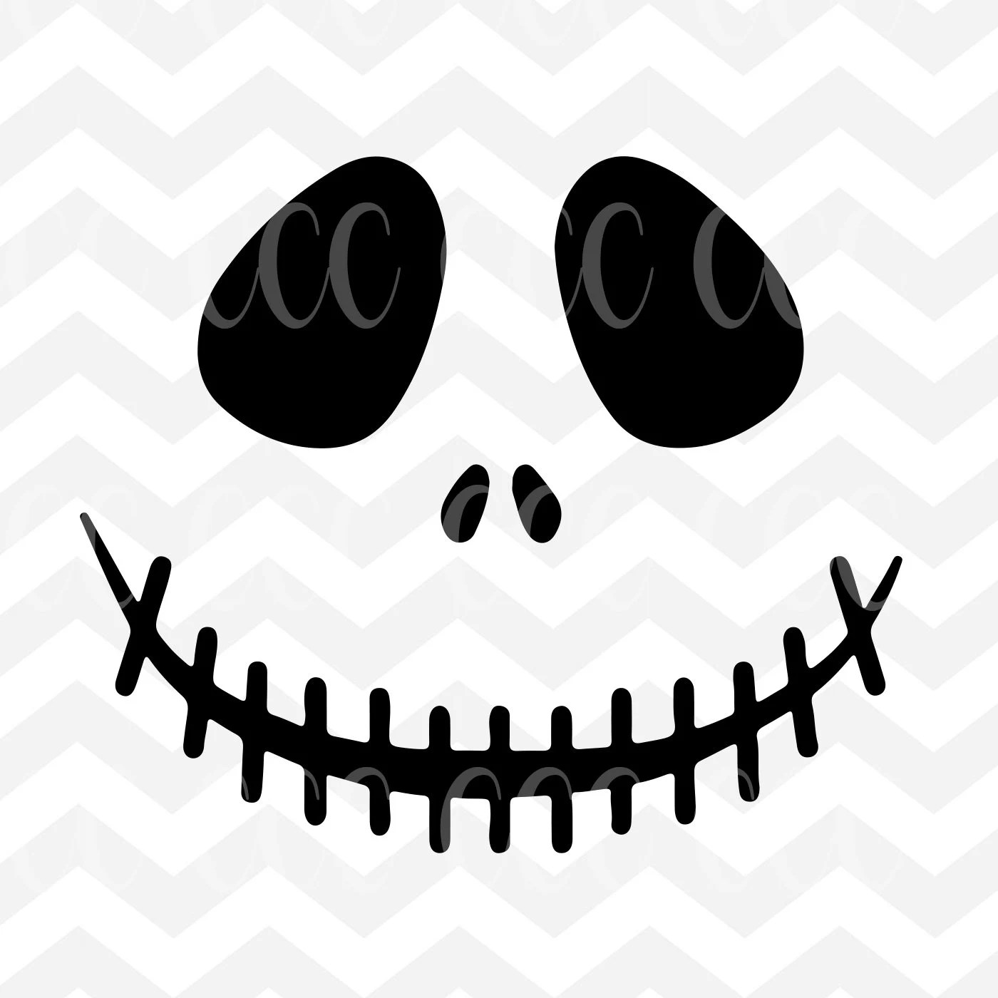 Jack Skellington Face The Nightmare Before Christmas SVG ...