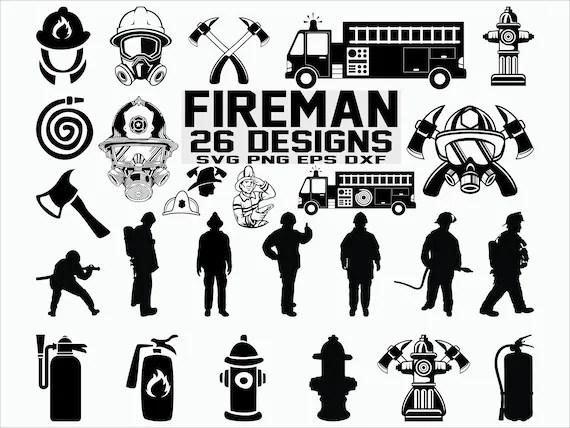 fireman silhouette clip art # 21