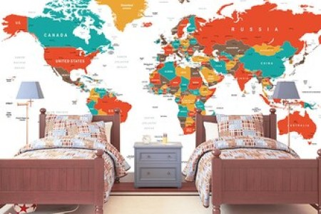 Kids world map mural path decorations pictures full path decoration world map kids navigator kids world map wall mural travel maps and world map kids wall decal world map interactive map wall sticker room decor map childrens gumiabroncs Images