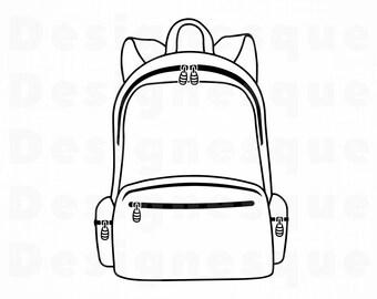 Backpack svg | Etsy