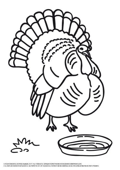 coloring page turkey # 61