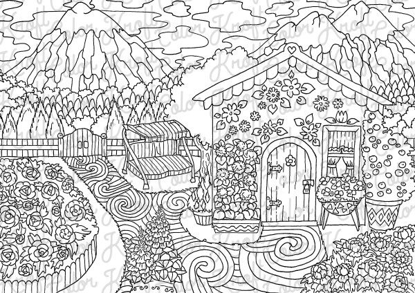 coloring pages printable mountains and trees # 66