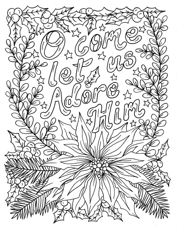 religious christmas coloring pages # 28