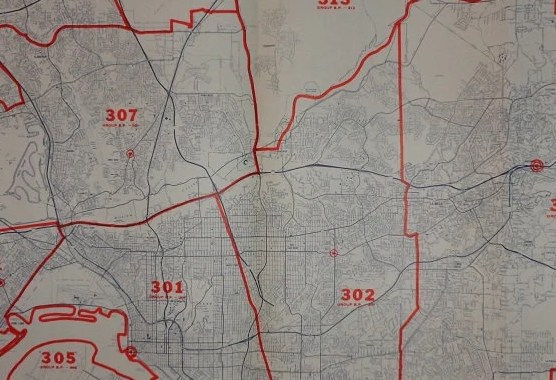 HD Decor Images » San diego large map   Etsy Large California Mileage Map San Diego 34 x22  Vintage 1975 Industrial Decor