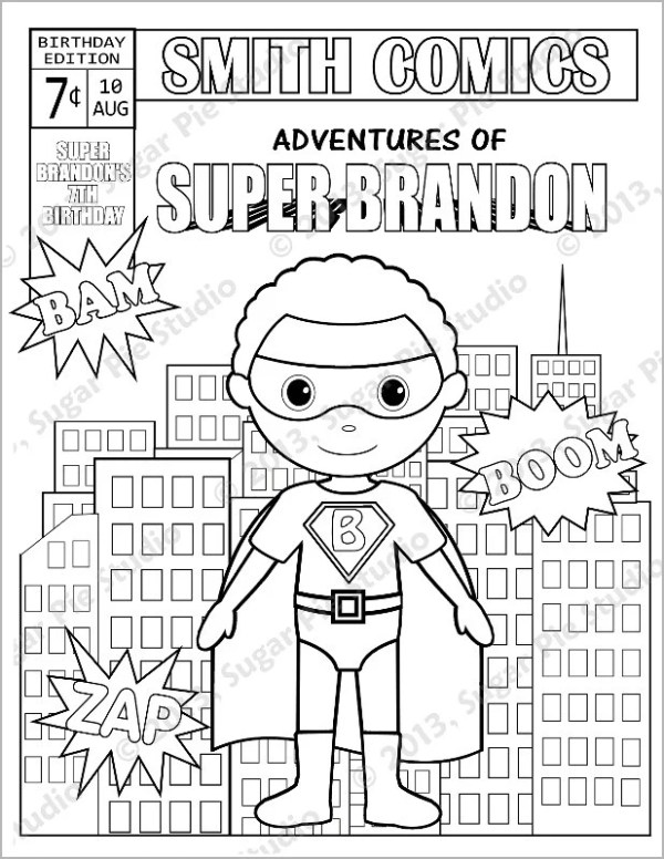 comic book coloring pages # 61