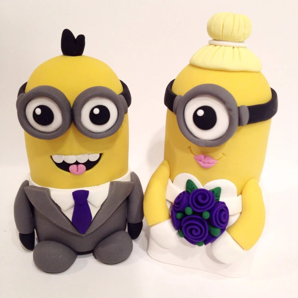 Minion Wedding Cake Topper Choose Your Colors   Etsy image 0