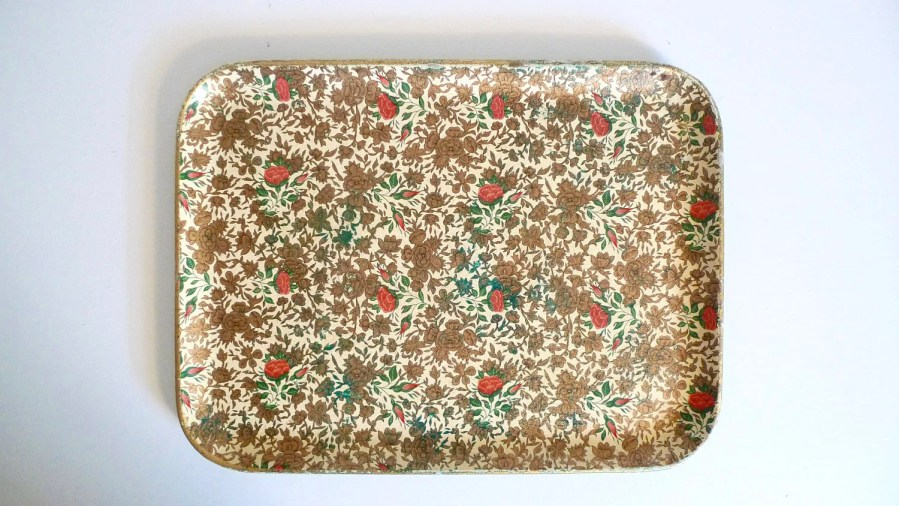 Paper mache tray   Etsy Paper Mache Serving Tray Floral Design   Bohemian Chic Home Decor Dresser  Tray   Floyd Jones Vintage