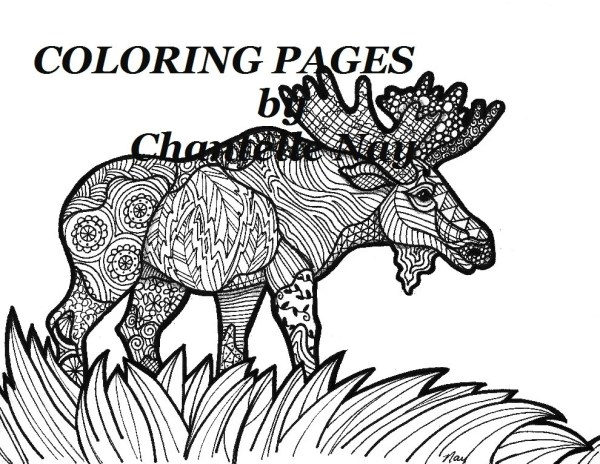 moose coloring page # 59